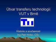 Útvar transferu technologií VUT v Brně - AIP ČR