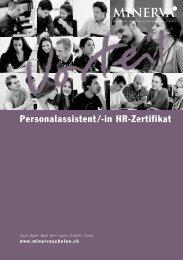 Personalassistent/-in HR-Zertifikat - Minerva