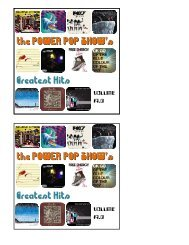 the POWER POP SHOW's Greatest Hits the POWER POP SHOW's ...