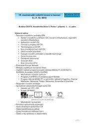 19. mezinárodní veletrh invencí a inovací 4.–7. 12. 2012 - AIP ČR