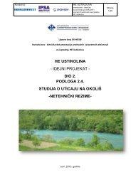 HE Ustikolina, općina Foča - Federalno ministarstvo okoliša i turizma