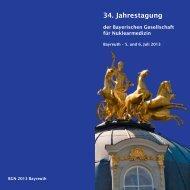 34. Jahrestagung - Bayerische Gesellschaft für Nuklearmedizin eV
