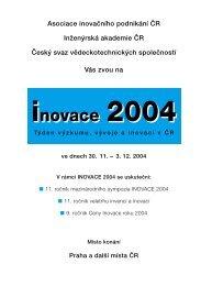 inovace 2004 inovace 2004 - AIP ČR