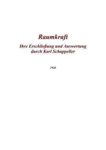 Raumkraft - Das Werk Karl Schappellers - Menschenkunde