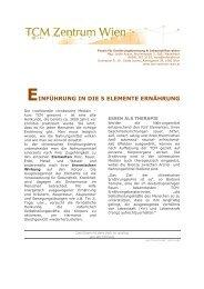 Ernährung nach den 5 Elementen - Dr. med. Sonja Laciny