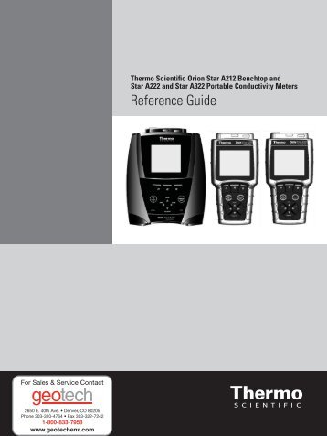 Thermo Scientific Orion Star A222 Reference Guide - Geotech ...