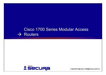 Cisco 1700 series modular access routers