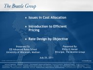 Issues in Cost Allocation - Wisconsin Public Utility Institute