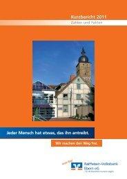 Jahresbericht 2011 - Raiffeisen-Volksbank Ebern eG
