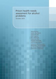 Prison health needs assessment for alcohol problems