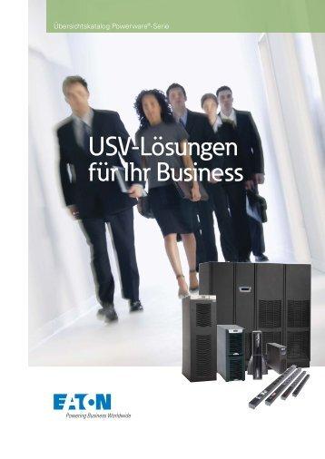 USV-Lösungen für Ihr Business - Sonepar