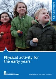 Download: Physical activity for the early years evidence briefing