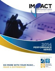 Impact Performance Series Brochure - Educational Performance Tours