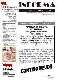 ASAMBLEA INFORMATIVA DE INTERINOS. Día: jueves 8 de marzo ...