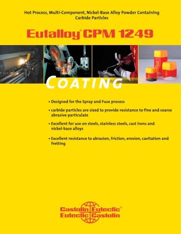 Eutalloy CPM 1249.indd - Castolin Eutectic