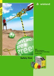 safety - Catalogue (0860.1) - Wieland Electric