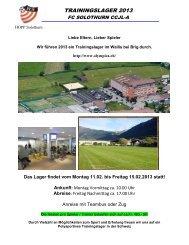 Brief Trainingslager CCJL-A_1-2013 - FC Solothurn