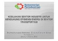 Kebijakan Sektor Industri untuk Mendukung Efisiensi Energi ... - IESR