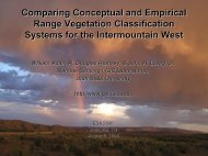 Comparing Conceptual and Empirical Range Vegetation ...