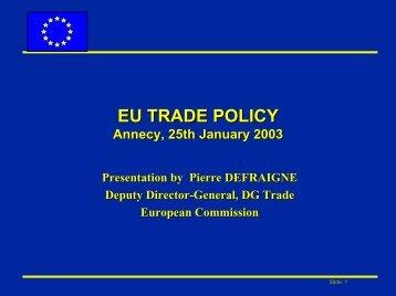 o Trade defence - Eurochambres Academy