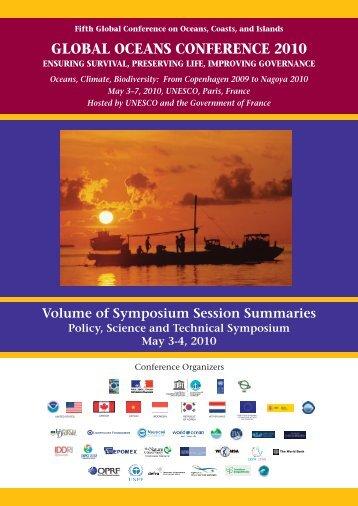 Volume of Symposium Session Summaries - Global Ocean Forum