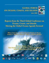 Reports from the Third Global Conference on Oceans, Coasts, and ...