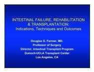 Intestinal Failure, Rehabilitation and Transplant