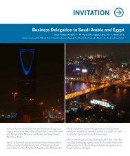 INVITATION Business Delegation to Saudi Arabia and Egypt