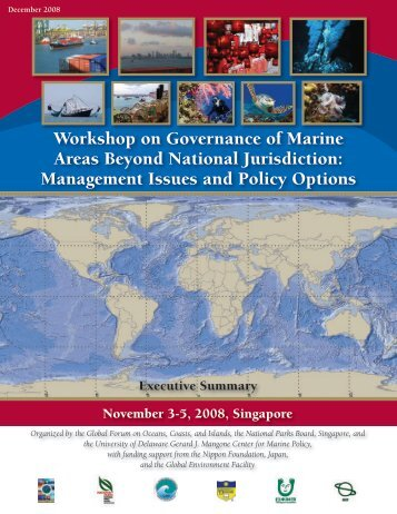Workshop on Governance of Marine Areas Beyond National