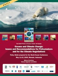 Oceans and Climate Change - Global Ocean Forum