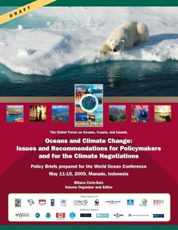 Oceans and Climate Change - Global Ocean Forum
