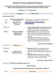 zum vorläufigen Programm (PDF) - Fachgebiet für Politikwissenschaft