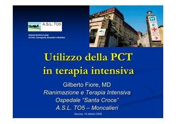 Utilizzo della PCT in terapia intensiva - Azienda Sanitaria Locale n ...