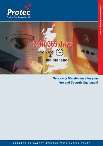 Download Service & Maintenance Brochure... - Protec Fire Detection