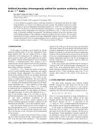 Artificial boundary inhomogeneity method for quantum scattering ...