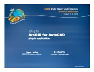 Using the ArcGIS for AutoCAD plug-in application