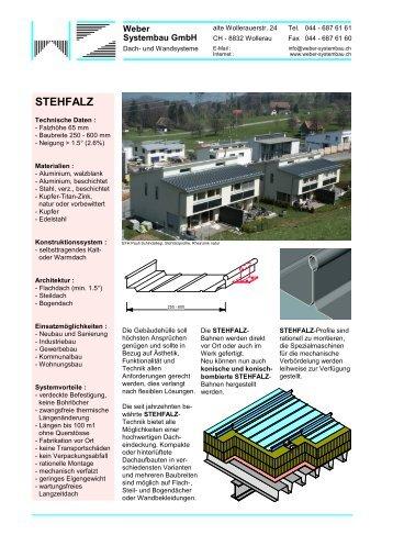 STEHFALZ - weber-systembau.ch
