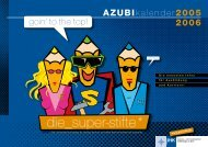 Azubi-Kalender - Marofke-Werbung