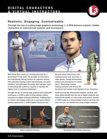 DIGITAL CHARACTERS & VIRTUAL INSTRUCTORS - L-3 DPA