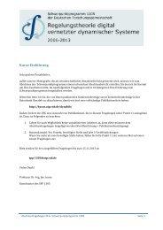Kurze Einführung - SPP 1305