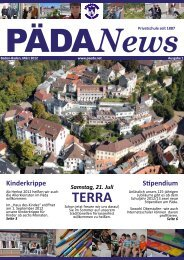 PÄDANews - Pädagogium Baden-Baden