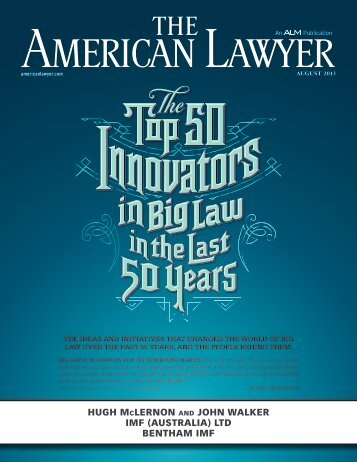 The Top 50 Innovators in Big Law in the Last 50 Year - IMF (Australia)
