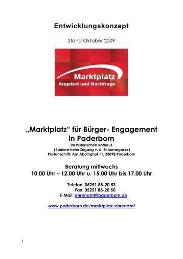 Konzept Marktplatz für Bürger-Engagement - Paderborn.de