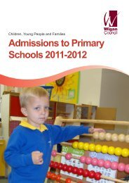 Admission to Primary School 2011-2012 Booklet - Wigan Council