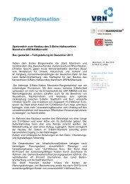 Spatenstich zum Neubau des S-Bahn-Haltepunktes Mannheim ...