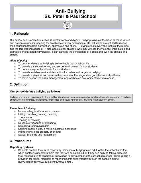 bullying and harassment policy template.html