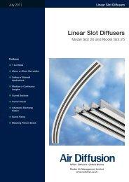 Linear Slot Diffusers - Air Diffusion