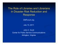 The Role of Libraries and Librarians The Role of ... - EMForum.org