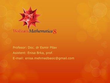 Jednačine, nejednačine, sistemi Manipulacije sa listama, vektorima i ...