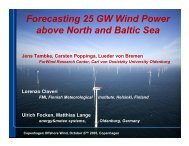 Forecasting 25 GW Wind Power above North and Baltic Sea